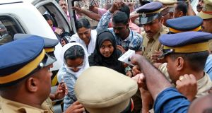 The 24-year-old woman at the centre of the 'Love Jihad' case in Kochi, India. File photograph: Sivaram V/Reuters