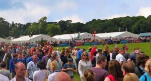 Crowds at Shane's Castle for game fair