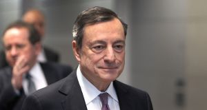 Mario Draghi, president of the European Central Bank. A key indicator for the ECB is wage increases and a deal last month between German union IG Metall and employers for a 4.3 per cent rise over 27 months will have been seen as some evidence of a return to normal earnings growth.