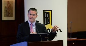 Damien English said he wanted to make 'whatever changes are necessary' to accelerate delivery of Traveller accommodation. Photograph: Dara Mac Dónaill / The Irish Times