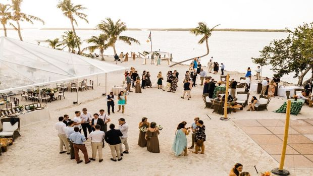 Shane and Julia McInerney were married at the picturesque Morada Bay in Islamorada. Shane is a professional soccer player and coach who moved from Galway to the US on a college scholarship five years ago.