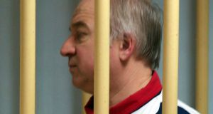 Former Russian military intelligence colonel Sergei Skripal attends a hearing at the Moscow District Military Court in Moscow on August 9, 2006. Sergei Skripal, a former Russian double agent whose mysterious collapse in England sparked concerns of a possible poisoning by Moscow, has been living in Britain since a high-profile spy swap in 2010.  Russia OUTYURI SENATOROV/AFP/Getty Images