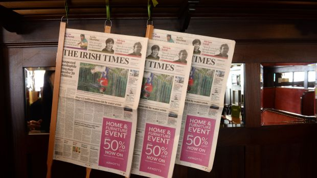 Some reading material in the upstairs rooms at Bewley's on Grafton Street. Photograph: Dara Mac Dónaill/The Irish Times