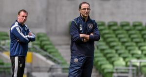 Michael O'Neill (left) and Martin O'Neill: The Republic of Ireland manager seemed to bridle over suggestions made by his Northern Ireland counterpart. Photograph: Sportsfile/Corbis via Getty