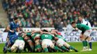 The consistently high performance of the Irish scrum has been a revelation. Photograph: James Crombie/Inpho