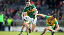 Seán O'Shea: strong, square-shouldered and always willing, he has been the focal point of Kerry's attack playing at centre-forward. Photograph: Cathal Noonan/Inpho