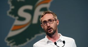 Eoin Ó'Broin, who is favour of the 12-week proposal, told RTÉ his preference is for the party to hold an ard fheis before the referendum.  Photograph: Alan Betson
