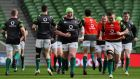 Ireland's Tadhg Furlong (centre) during the captain's run at The Aviva Stadium,