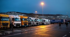 The boss of Calais port in France has warned of potential 30-mile tailbacks if  mandatory customs and food safety checks are introduced after Brexit.    Photograph:  Jack Taylor/Getty Images