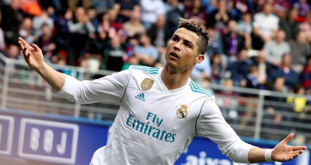 Ronaldo keeps up scoring streak with two in win over Eibar