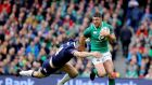 Ireland's Rob Kearney was the official man of the match. Photograph: Tom Honan/Irish Times
