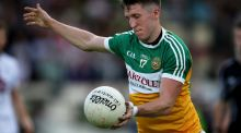 Offaly's Cian Donohue scored an important goal against Wexford on Saturday. Photograph: Tommy Dickson/Inpho
