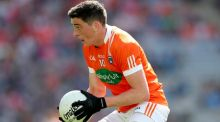 Rory Grugan notched six points for Armagh in the win over Derry. Photograph: James Crombie/Inpho