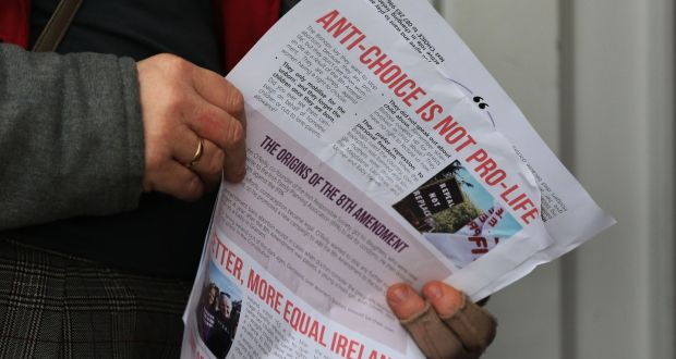 The literature being handed out by pro-repeal c&aigners while canvassing in Dublin on Saturday & Pro-choice canvasser u0027shockedu0027 by reaction on doorstep