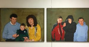 Seán O'Rourke diptych from the Hermione Exhibition.