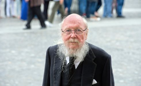 2015 -Guinness heir, the Hon Garech Browne  photographed at Trinity College Dublin attending  the memorial service of Paolo Tullio, writer, food critic and Michelin star winnig chef.Photograph: Brenda Fitzsimons / The Irish Times