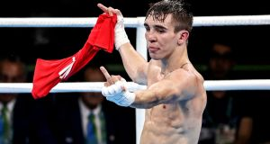 Rio 2016 Men's Bantamweight 56kg Quarter-Final:  Michael Conlan makes his feelings known after the decision went to Vladimir Nikitin of Russia. Photograph: Inpho