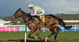 Douvan:  may be switched to Ryanair Chase from the Queen Mother Champion Chase – a decision will be made on Monday.  Photograph: Morgan Treacy/Inpho