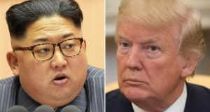 "Talks between Kim Jong Un and Donald Trump, should they take place, are expected to ""play out over time"". Photographs: Getty Images"