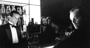 On the set of The Shining (1980), above, from left, Barry Dennen, Stanley Kubrick and Jack Nicholson. Photograph: © Warner Bros