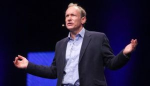 "The inventor of the world wide web, Tim Berners-Lee, has warned of a concentration of power in the hands of a few firms ""controlling which ideas we share"". Photograph: Bloomberg"