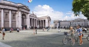 Dublin City Council has planned a pedestrian and cycle plaza and ban all traffic, including buses and taxis, from accessing Dame Street through College Green