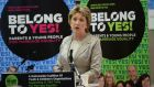 Former president Mary McAleese speaking at an event in 2015 calling for a Yes vote in the referendum on same-sex marriage. Photograph: Dara Mac Dónaill