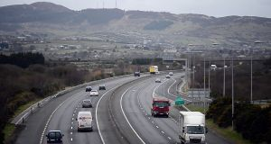The M1 motorway between Dundalk and Newry. Photograph: Bryan O'Brien