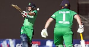 Ireland's William Porterfield and Paul Stirling were in record-breaking form against UAE. Photograph: Getty Images