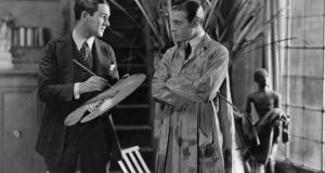Rex Ingram directing Rudolph Valentino  in the MGM film 'The Four Horsemen of the Apocalypse'. Photograph: Hulton Archive/Getty Images