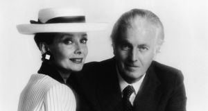 Hubert De Givenchy with Audrey Hepburn in the mid-1980s:  Photograph:  Hulton Archive/Getty Images