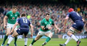 Ireland's prop Cian Healy in action against Scotland at the Aviva Stadium last Saturday.  Photograph: Paul Faith/AFP/Getty