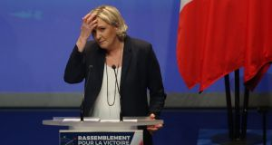 "Front National president Marine Le Pen: her far-right father says a proposed new party name ""brings nothing new"" and accuses her of ""lacking imagination"". Photograph: Thibault Vandermersch"