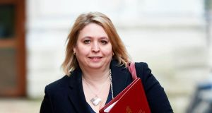 Karen Bradley has faced criticism for not taking action to release money for victims amid the powersharing impasse at Stormont.Photograph: NIKLAS HALLE'N/AFP/Getty Images