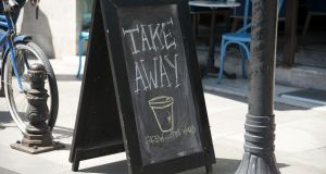 Dublin City councillors are to vote on a proposed ban on sandwich boards from outside shops in the city centre. Photograph: iStock