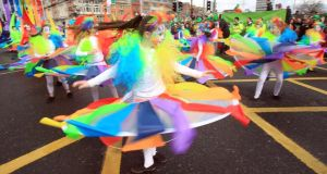 St Patrick's Festival: Dublin's main parade starts at noon on March 17th. Photograph: Peter Muhly/AFP/Getty