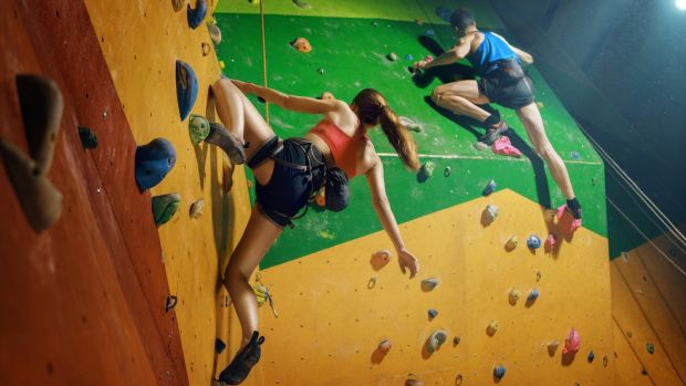 An activity that the whole family can get involved in is bouldering