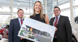 Richard Ward, sales director; Caroline Willis, finance director and Paul Ward, sales director at Shelbourne Motors.