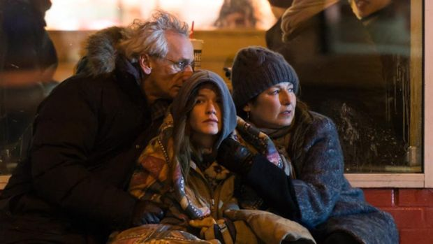 Matt Craven, Hannah Gross and Catherine Keener in Unless, Irish director Alan Gilsenan's adaptation of Carol Shields' final novel. Photograph: Mongrel Media
