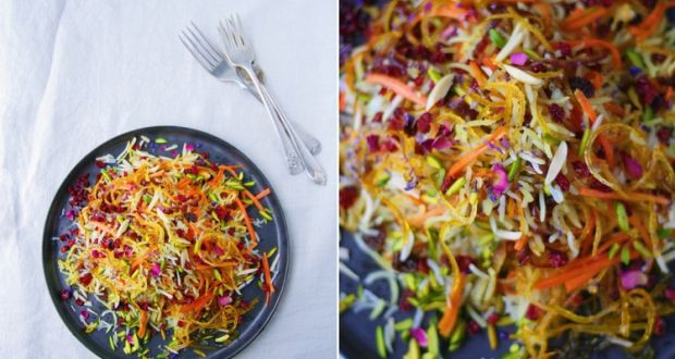 Ditch jamie oliver and get creative with persian delights persian jewelled rice traditionally served at iranian weddings and family gatherings forumfinder Images