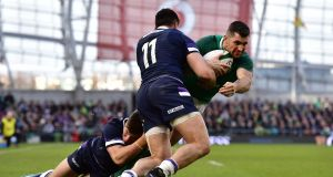 Rob Kearney  sat out Ireland training at Carton House on Tuesday but is not in doubt for Saturday's game against England. Photograph:  Charles McQuillan/Getty Images