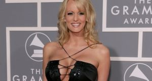 Stormy Daniels at the Grammy Awards in Los Angeles recently. Evangelical Christian supporters of Donald Trump are unlikely to be too happy about allegations. Photograph: Matt Sayles/AP