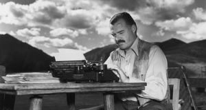 Ernest Hemingway: 'Certainly the interior monologue is shit – it always takes place in the mind of the author – not the citizen he is writing about. I think it is legitimate for the Irish because their minds go that way'. Photograph: Lloyd Arnold/Hulton Archive/Getty Images