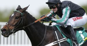 Nico de Boinville riding Altior  to win the bet365 Celebration Chase at Sandown Park in April 2017. Photograph:  Alan Crowhurst/Getty Images