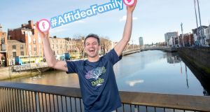 Thomas Barr at the launch of the Affidea Rock 'n' Roll Dublin half Marathon series which will take place on  August 11th-12th.