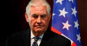 Former US Secretary of State Rex Tillerson. Photograph: Jonathan Ernst/AFP/Getty Images