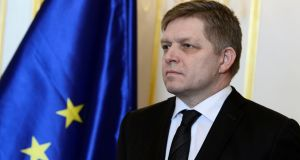 "Slovak prime minister Robert Fico has accused his critics of trying to oust him in a ""coup"". Photograph: Radovan Stoklasa/Reuters"