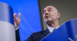 "EU finance commissioner Pierre Moscovici said Europe must ""act fast"" to secure a common approach to digital tax"". Adding that he expects Ireland to pay a positive role in the negotiations, despite its reservations. Photograph: Olivier Hoslet/EPA"