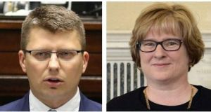 Poland's deputy justice minister Marcin Warchol and Ms Justice Aileen Donnelly. The High Court's decision means extraditions to Poland from across the EU may come to a halt, according to Irish lawyers