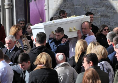 Six-year-old Kayla Carey's funeral. The child died from a Meningitis infection last week. Photograph: Colin Keegan/Collins